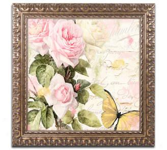 Flora Bella Trademark Global Color Bakery 'Florabella Ii' Ornate Framed Art