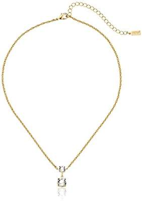 Swarovski 1928 Jewelry 14k Gold-Dipped Crystal Drop Necklace