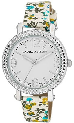 Laura Ashley Women's LA31005BL Analog Display Japanese Quartz Blue Watch $34.99 thestylecure.com