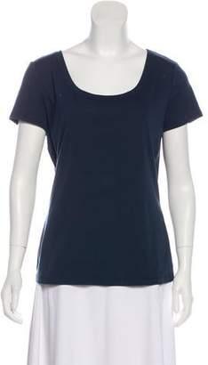 Lafayette 148 Metallic-Trimmed Short Sleeve T-Shirt