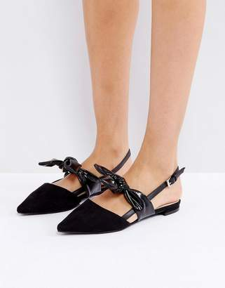 Coco Wren Oversized Bow Slingback Flat Shoe
