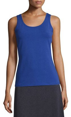 NIC+ZOE Perfect Scoop-Neck Tank, Wild Blue $48 thestylecure.com