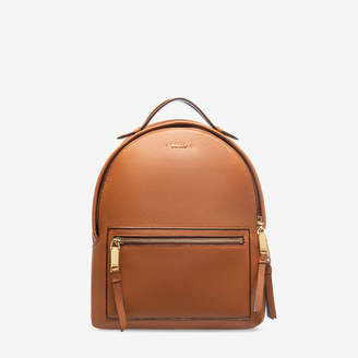 Bally The Backpack Medium Brown, Women's grained bovine leather backpack in tan