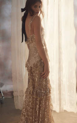 Needle & Thread Scarlett Sequin Tulle Gown