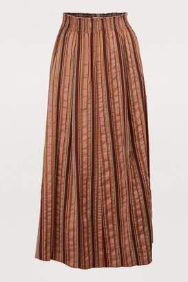 Forte Forte Long striped skirt