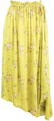 Kenzo asymmetric floral skirt
