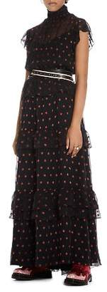 Scotch & Soda Star Print Maxi Dress