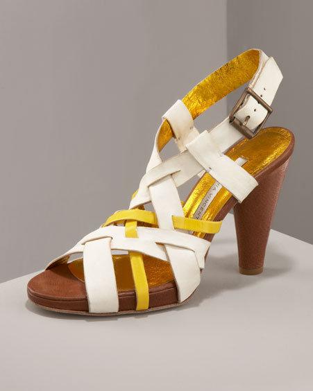 Cynthia Vincent Patent Sandal