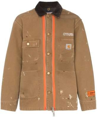 Heron Preston x Carhartt wool blend paint splatter jacket