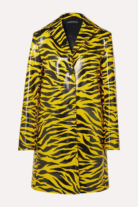 Kwaidan Editions Tiger-print Pu Coat - Yellow