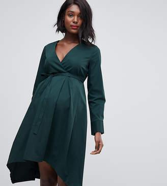 Mama Licious Mama.licious Mamalicious maternity organic cotton v neck dress