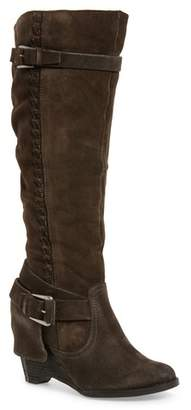 Naughty Monkey Naugty Monkey Double Up Knee-High Wedge Boot