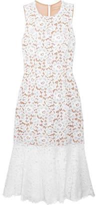 Michael Kors Collection - Cotton-blend Corded Lace Midi Dress - White $2,395 thestylecure.com