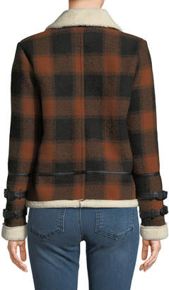 Dex Check Plaid Flannel Coat with Sherpa Lining