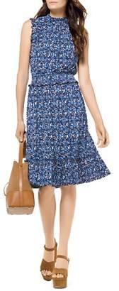 MICHAEL Michael Kors Paisley Smocked Waist Dress