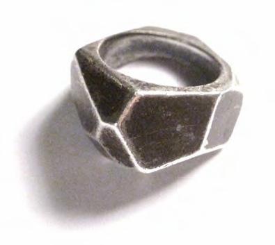 Lady Grey Facet Band Ring