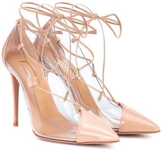 Aquazzura Magic 105 patent leather pumps