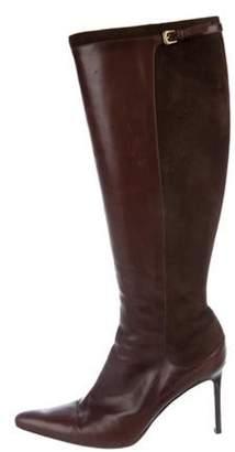 Ralph Lauren Leather Knee-High Boots Brown Leather Knee-High Boots