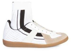 Maison Margiela Replica Sock High-Top Leather Sneakers