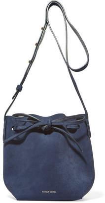 Mansur Gavriel Mini Mini Suede Bucket Bag - Navy