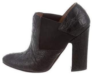 Alaia Embossed Leather Booties