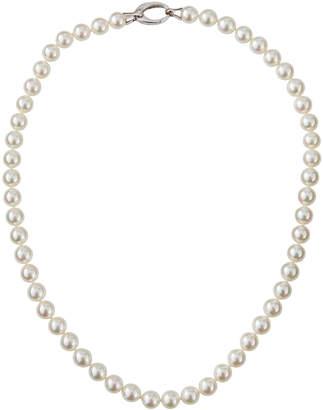 Majorica Short 7mm Pearl-Strand Necklace white