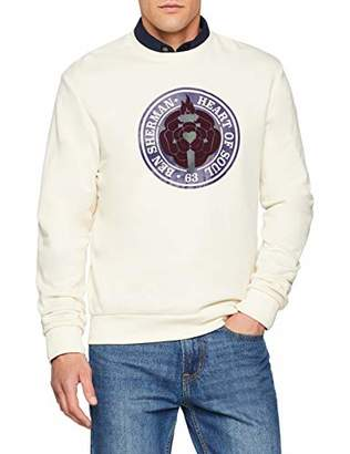 Ben Sherman Men's Flock Chest Print Sweat Sweatshirt,Medium (Manufacturer Size: M)