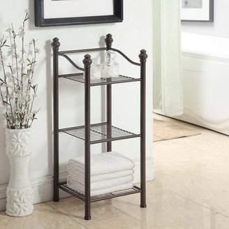 Organize It All Belgium 3-Tier Bathroom Floor Shelf Storage Tower