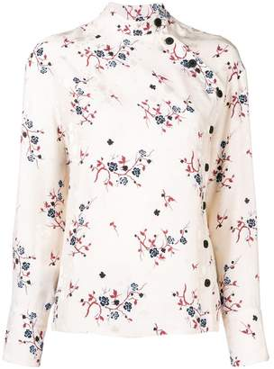 Kenzo high neck floral blouse