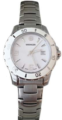 Wenger 70384 Swiss Made Women's Analog Round Watch Stainless Steel Bracelet