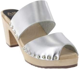 Mia Shoes Peep Toe Clogs - Elva