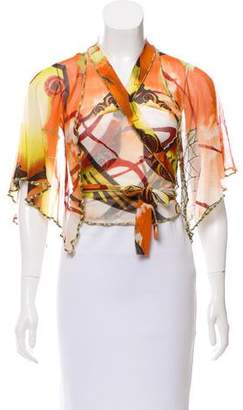 Jean Paul Gaultier Cropped Wrap Top