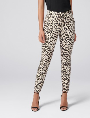 Forever New Kellie High-Waist Printed Pants - Summer Leopard - 14