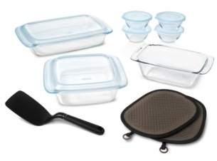 OXO 16-Piece Glass Bakeware & Bowl Set
