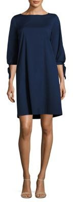 Lafayette 148 New York Elaina Tie-Cuff Dress $398 thestylecure.com