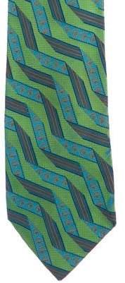 Gucci Horsebit Ribbon Jacquard Silk Tie