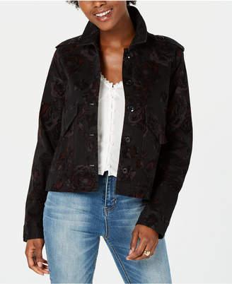 American Rag Juniors' Printed Velvet Jacket