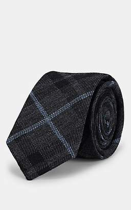 Alexander Olch Men's Plaid Wool Necktie - Gray