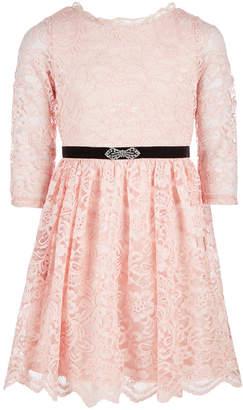 Sequin Hearts Big Girls Lace Dress