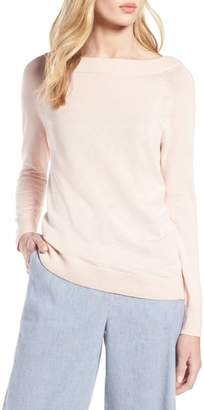 Halogen Convertible Bateau Neck Sweater