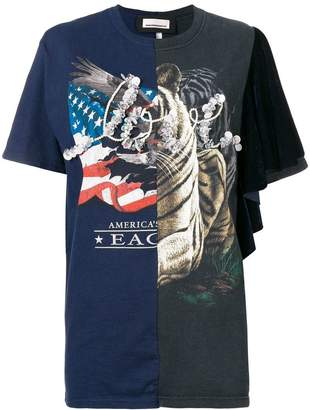 Night Market flag print T-shirt