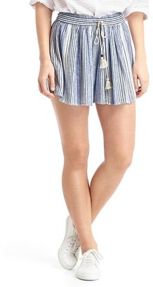 Stripe drapey shorts $44.95 thestylecure.com