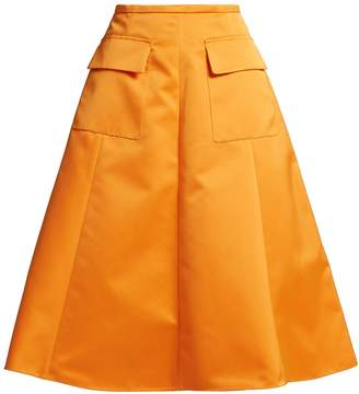 Rochas A-line duchess-satin skirt