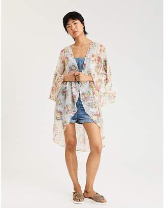 American Eagle AE Button Front Kimono