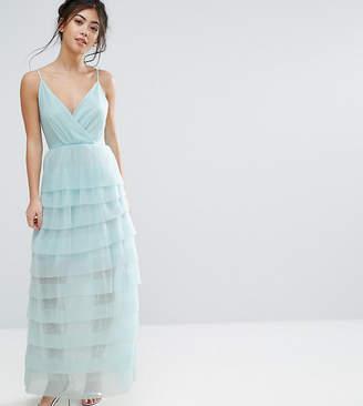 True Decadence Petite Cami Maxi Dress With Ruffle Pleated Skirt