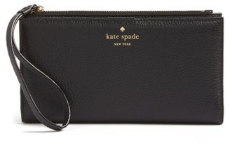 Women's Kate Spade New York Young Lane - Eliza Leather Wallet - Black $128 thestylecure.com