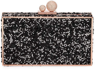 Sophia Webster Clara Crystal Box Clutch Bag, Black
