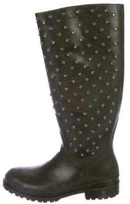 Saint Laurent Festival Embellished Rubber Rain Boots