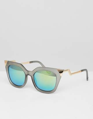 Jeepers Peepers Grey Frame Cat Eye Sunglasses