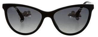 Chanel Cat-Eye Pearl Sunglasses w/ Tags